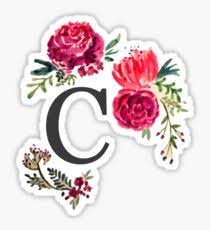 monogram letter stickers letter c stickers redbubble