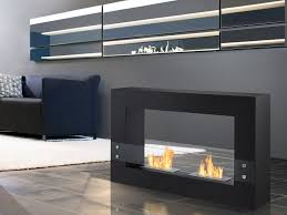 ignis tectum black fsf 004 free standing ethanol fireplace in