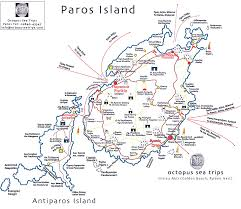 Greece Islands Map by Map Of Paros And The Greek Islands