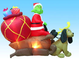 Grinch Outdoor Christmas Decorations For Sale by Amazon Com Airblown Inflatable 6 Ft Tall Grinch In A Sleigh With