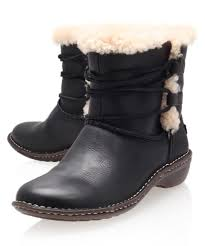 ugg s rianne boots black ugg black rianne leather ankle boots in black lyst