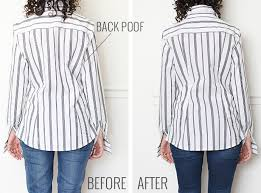 why shirts bunch in back u0026 an easy way to fix it alterations needed