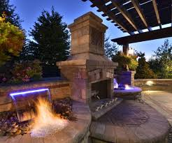 outdoor fireplaces elemental landscapes ltd