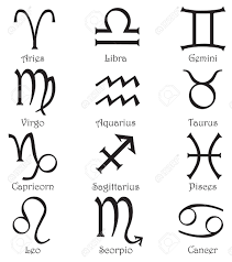 set of 12 zodiac signs on a white background royalty free cliparts
