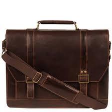 wilsons leather dark rugged flapover handle brief men u0027s business