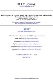 reflecting on esl teacher beliefs and classroom practices a case stu u2026