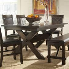 Dining Room Sets Dallas Tx Homelegance Roy 6 Piece Trestle Dining Room Set In Dark Espresso