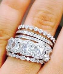 stackable engagement rings best 25 stacked wedding rings ideas on stackable