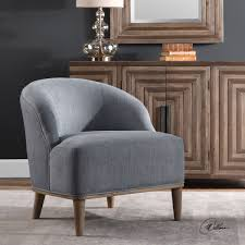 Blue Accent Chairs For Living Room by Nerine Silver Blue Accent Chair By Uttermost Wolf And Gardiner