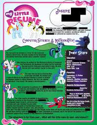 Machine Learning Resume This U0027my Little Pony U0027 Resume Does Not Seem To Be A Joke
