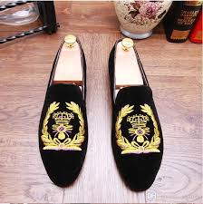 wedding shoes online india 2017 hot sales bees indian silk embroidery men velvet shoes