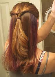 purple highlights hidden under hair beauty tips pinterest