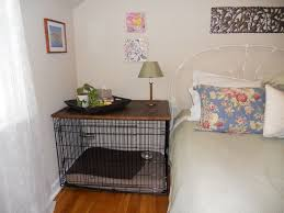 Wood Plans For Bedside Table by Best 25 Dog Crate Furniture Ideas On Pinterest Dog Crate Table