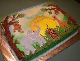 flat baby shower cakes safari jungle theme cake marble cake