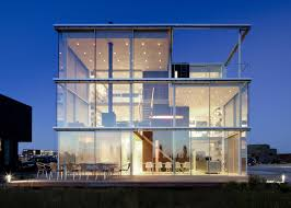 architecture home exterior design square house transparent glazing