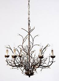 branch chandelier home accents 6 light iron branch chandelier furniture