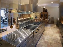 Restaurant Kitchen Lighting with Granite Countertop Laminate Cabinetry Commercial Dishwashers For