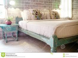chambre style vintage chambre à coucher de style de vintage photo stock image du rideau
