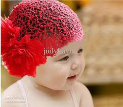 lace headwear pink and colour big flower lace net pullover toddler baby
