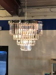 Faux Crystal Chandeliers New Arrivals In Our Lighting Department Donated From Build Com