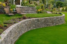 landscape retaining wall front yard landscaping ideas