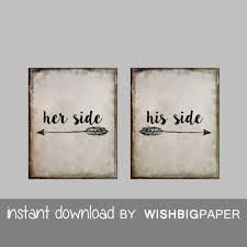 Bedroom Wall Art Sets Her Side His Side Wall Art Instant Download Set Of Three