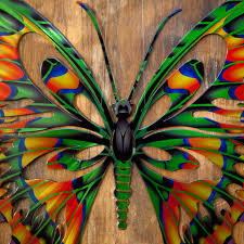 3d butterfly metal outdoor wall art hayneedle