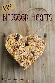 bird seed wedding favors how to make birdseed hearts loomlove