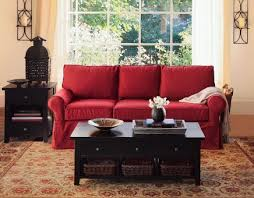 Decor Items For Living Room Red Couch Living Room Decorated With Home Decor Items Make It