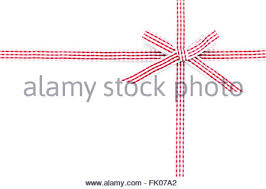 checkered ribbon and white checkered ribbon bow isolated on white background