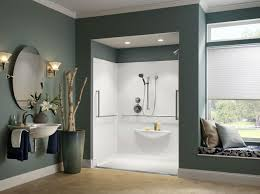 Bathroom Accessories For Senior Citizens Trench Drain Creates A Beautiful Way To Make A No Step Shower For