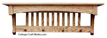 mission oak wall shelf u0026 coat rack home essentials amish