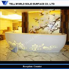 Lobby Reception Desk Fashion Design Classical Chinese Style Craved Led Lobby Reception