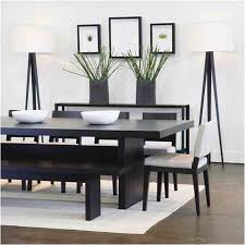 Wonderful Modern Dining Room Decorating Ideas For Small Space - Black and white contemporary dining table