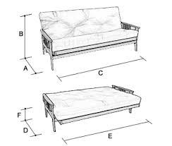 Sofa Bed Dimensions 3 Seater Futon Sofa Bed Furniture Shop