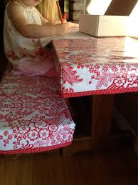 Picnic Table Bench Covers Fitted Oilcloth Table Cover Craftiness Is Not Optional Crafty