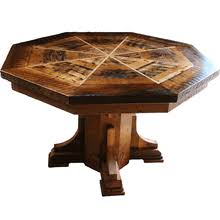 reclaimed wood game table octagonal reclaimed wood dining table the top flips and converts