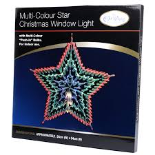 multicolour star christmas window light available at this is it