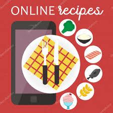 application recettes de cuisine application de recettes de cuisine en ligne illustration de vecteur
