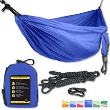 amazon com double eagle camping hammock set incl 2 carabiners