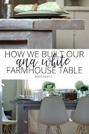 ana white farmhouse table