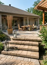 techo bloc escala stone stairs design ideas for paving stone