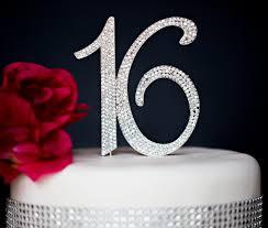 16 cake topper sweet 16 cake topper premium rhinestones monogram