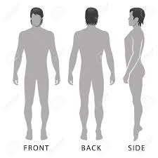 fashion man full length template figure silhouette front side
