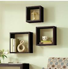 Bed Bath And Beyond Decorative Wall Shelves by Floating Wall Cube Box Shelf Shelves Light Oak Dark Walnut Set Of