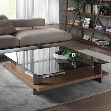 glass top coffee table with storage pacini e cappellini corallo coffee table square nk bronze