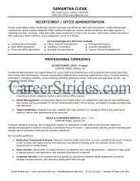 Medical Front Office Resume Entry Level Receptionist Resume Jobs Billybullock Us