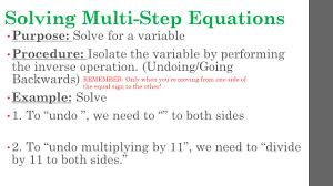 Inverse Operation Worksheets Multi Step Equations With Variables On Both Sides
