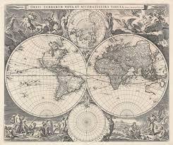 Double Map Double Hemisphere World Map By Visscherbartele Gallery
