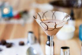 clear chocolate martini and chocolate making for two in london